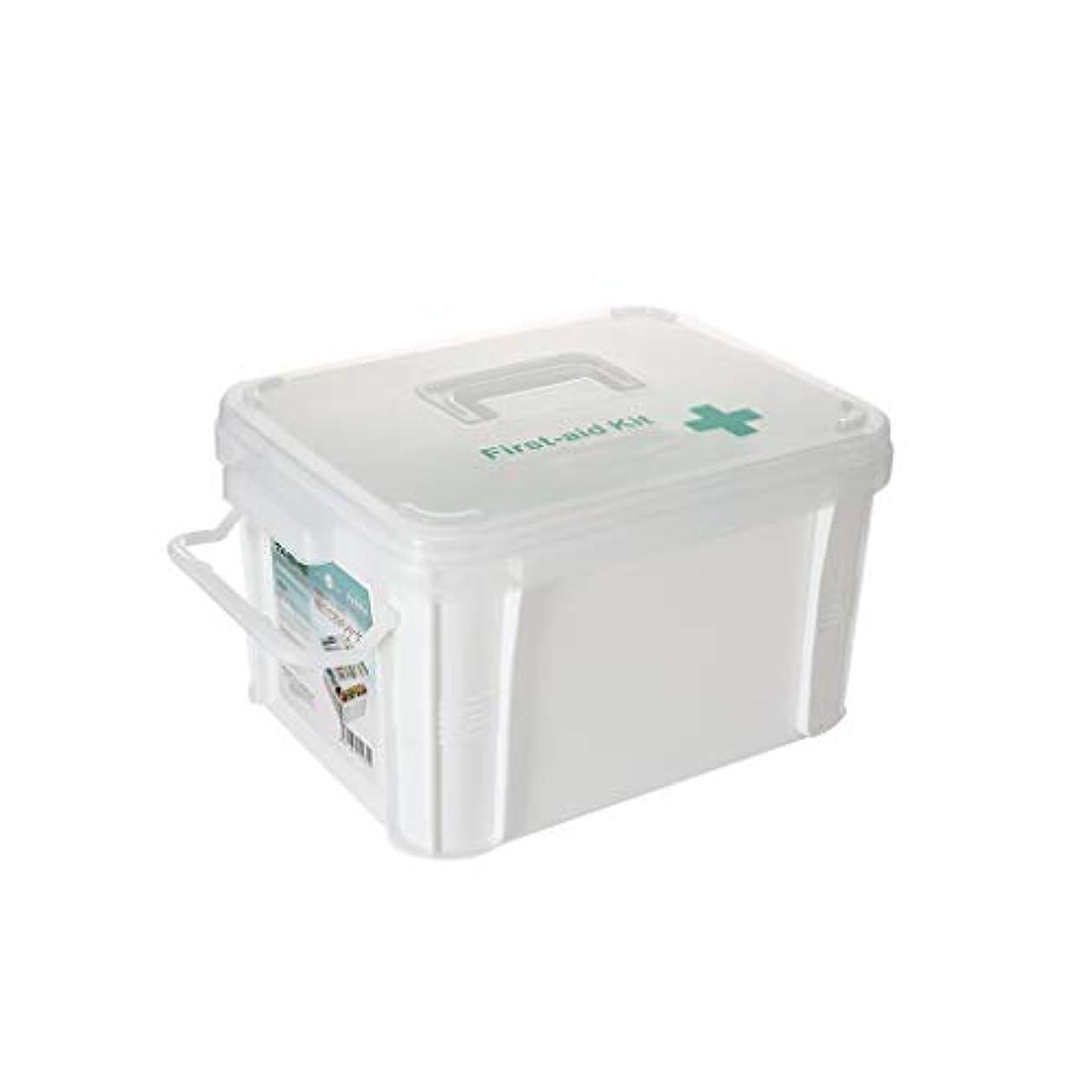 家庭用救急箱大薬箱多層医療箱大容量収納ボックス薬箱二サイズオプション AMINIY (Size : 39.5×27.5×22cm)