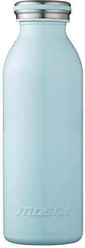 水筒 真空断熱 スクリュー式 マグ ボトル 0.45L ターコイズ mosh! (モッシュ! ) DMMB450TU