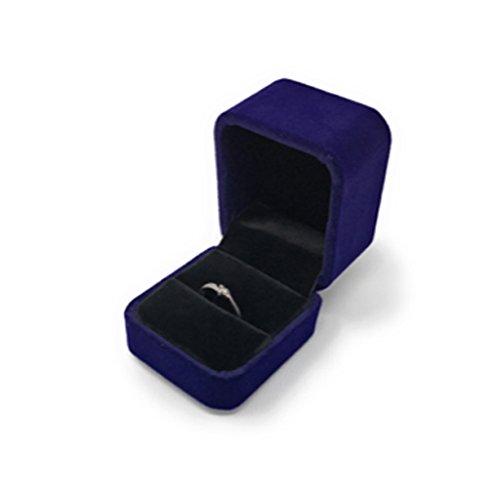 B-TOPAZ 指輪ケース ギフトボックス ジュエリーボックス リングボックス プレゼント に ステキ オシャレ 結婚指輪 アクセサリーケース (ネイビー)