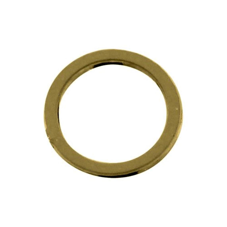 放射性然としたひねくれたプリティーネイル ネイルアートパーツ フレームリングS ゴールド 7個