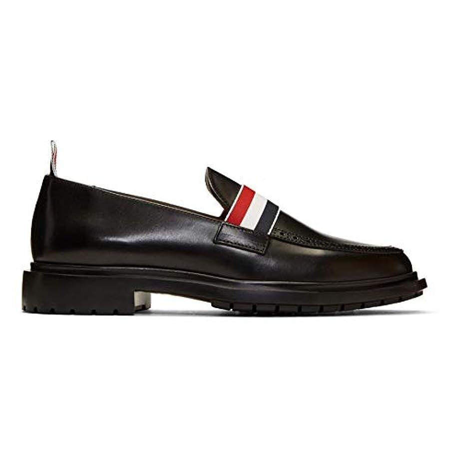 おとなしい落胆した青写真(トム ブラウン) Thom Browne メンズ シューズ?靴 ローファー Black Tricolor Band Loafers [並行輸入品]
