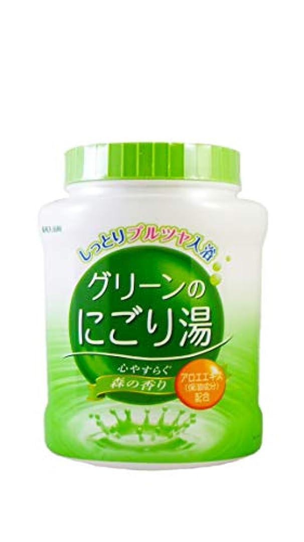 不均一本当のことを言うとにはまって薬用入浴剤 グリーンのにごり湯 心やすらぐ森の香り 天然保湿成分配合 医薬部外品 680g