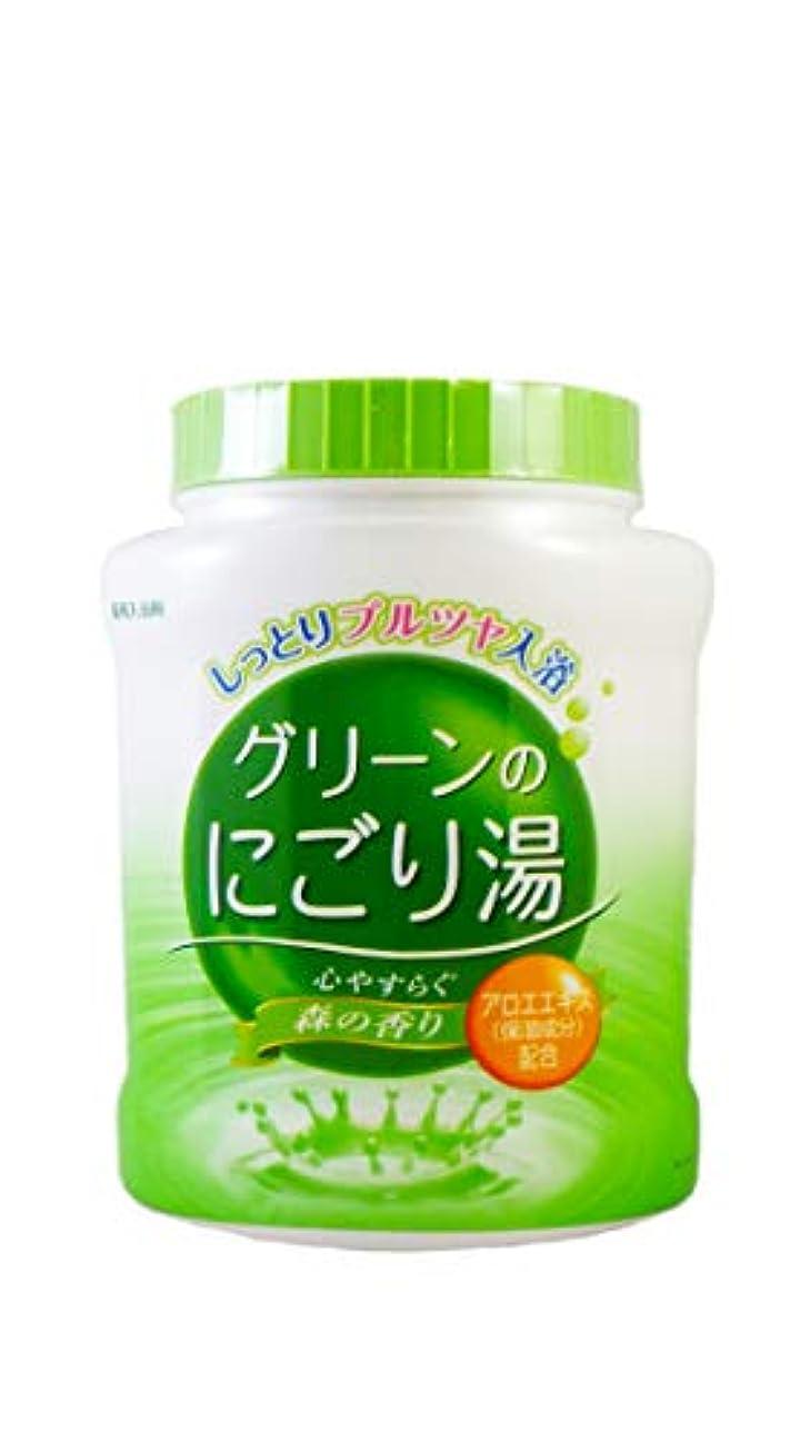 ふける頼る軽く薬用入浴剤 グリーンのにごり湯 心やすらぐ森の香り 天然保湿成分配合 医薬部外品 680g