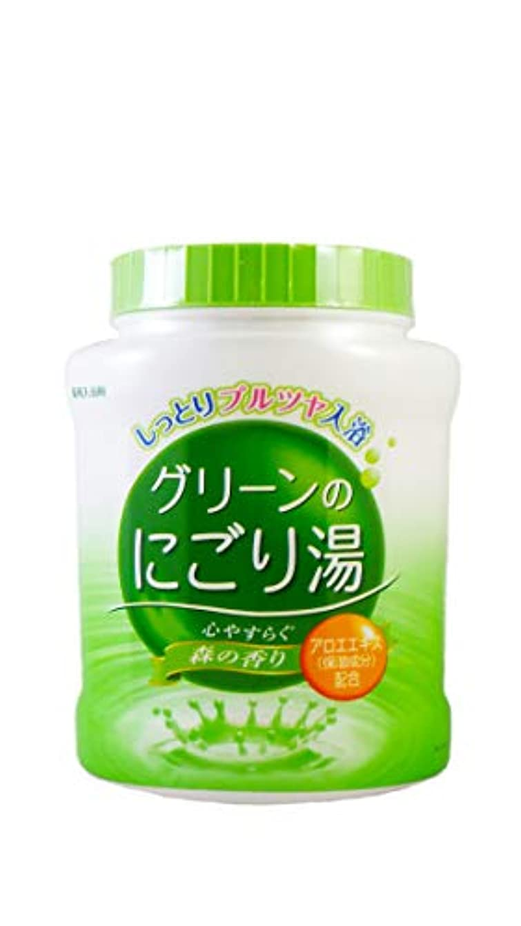 薬用入浴剤 グリーンのにごり湯 心やすらぐ森の香り 天然保湿成分配合 医薬部外品 680g