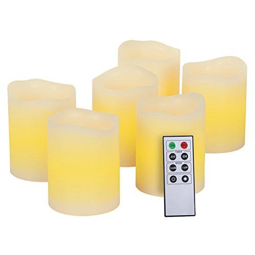 Kohree 本物の蝋で LEDキャンドルライト リモコン付き 無火炎タイマー機能 電池式 クリスマス/結婚式 (6)