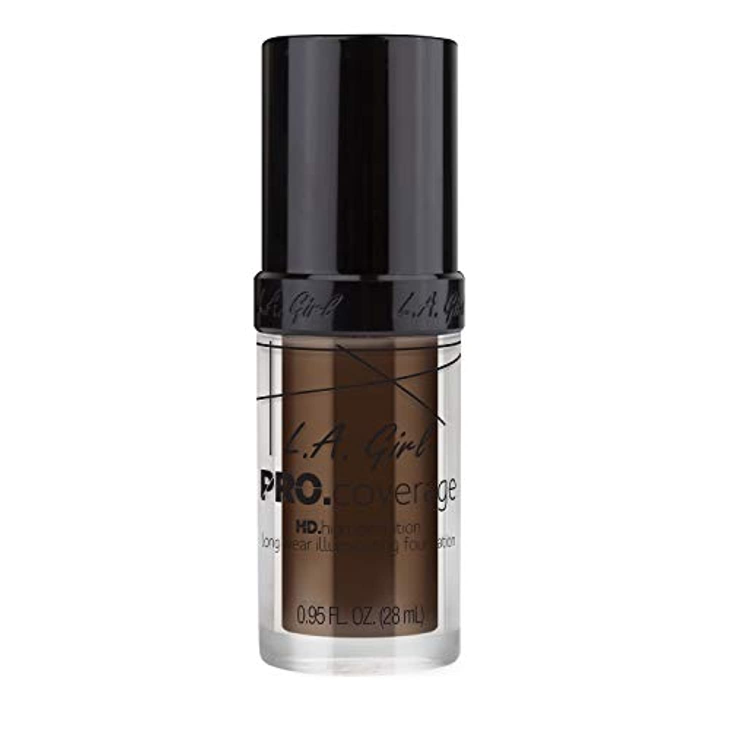 身元カジュアルパイL.A. Girl Pro Coverage Illuminating Foundation - Chocolate (並行輸入品)