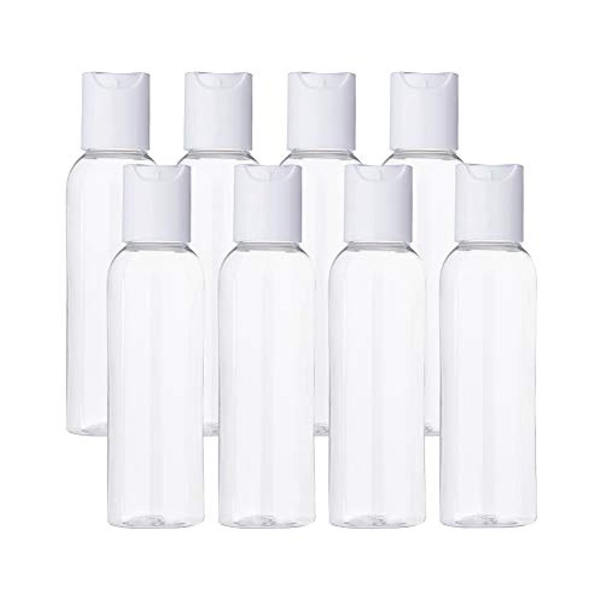 公式カエルラフトBENECREAT 20個セット60mlプレスキャンプボトル 空クリアボトル プラスチック製 クリーム 化粧水 コスメ小分け 詰め替えボトル 白いキャップ