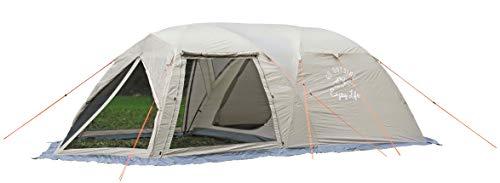 キャプテンスタッグ(CAPTAIN STAG) テント スクリーン ツールームドームテント [5-6人用] 【サイズ280×620×H190cm】 PU加工 グラスファイバー製ポール採用 キャリーバッグ付き モンテ UA-44