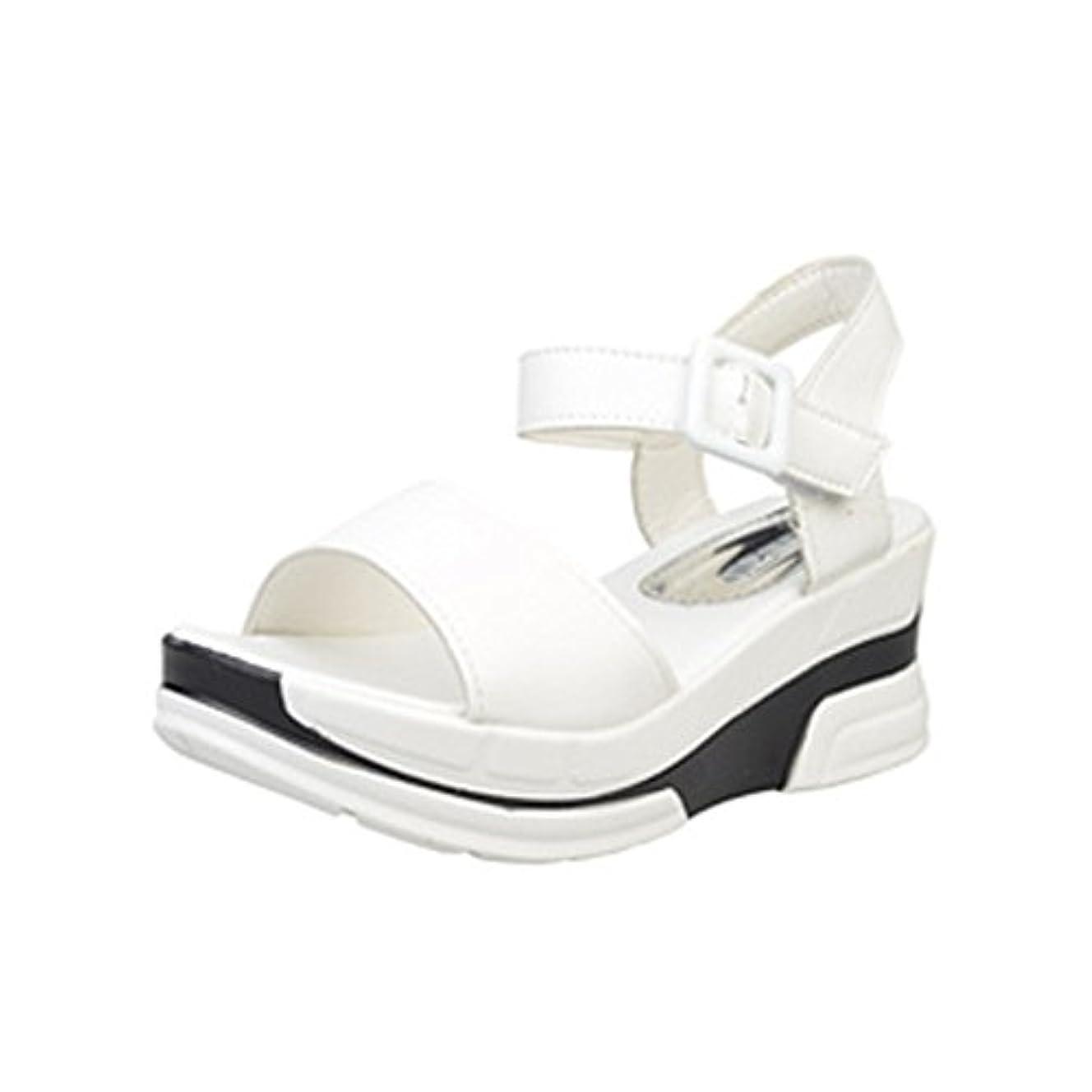 保育園飢饉滑り台[シューズ Foreted] サンダル フラット アンクルストラップ 美脚 フォーマル 厚底 おしゃれ 夏 歩きやすい コンフォート ウェッジソール ぺたんこ靴 可愛い