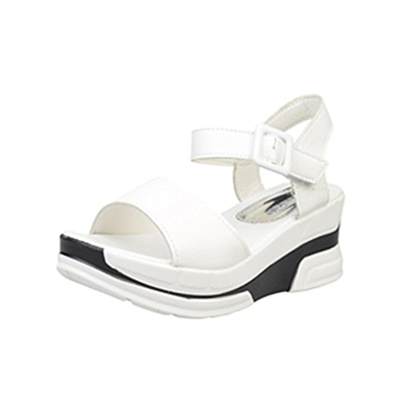 軽量本質的に合成[シューズ Foreted] サンダル フラット アンクルストラップ 美脚 フォーマル 厚底 おしゃれ 夏 歩きやすい コンフォート ウェッジソール ぺたんこ靴 可愛い