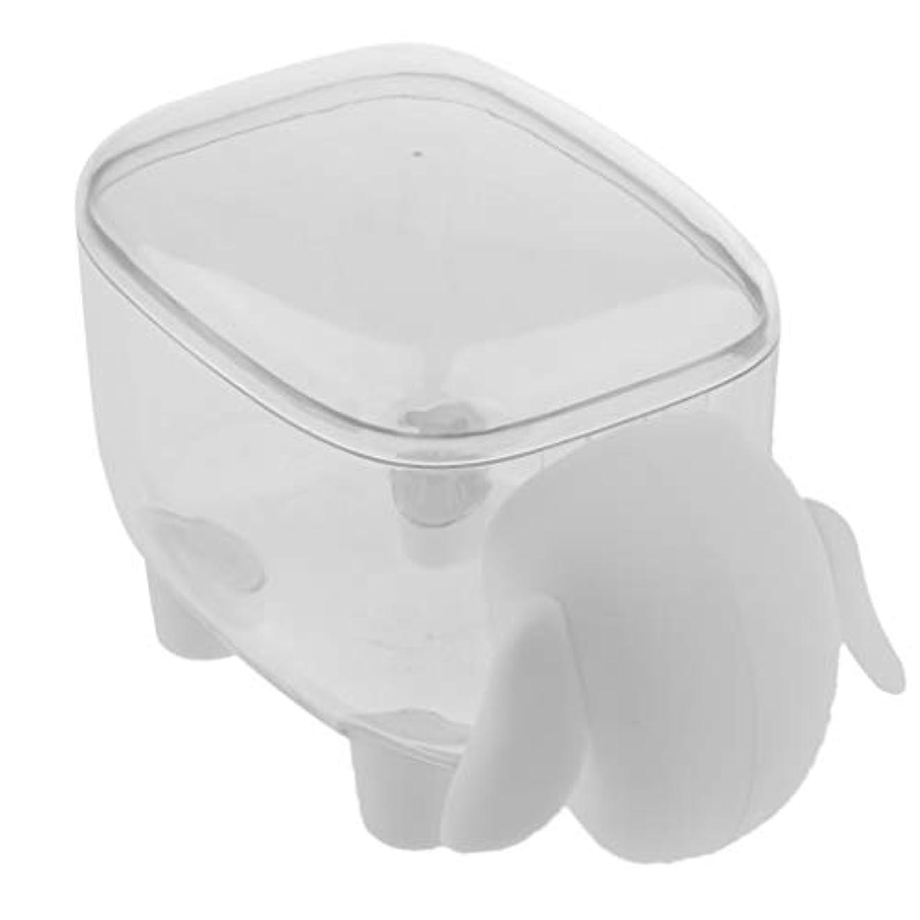 殺人リーチ欠如Baoblaze 爪楊枝 棉棒 収納ボックス プラスチック 蓋付き コットンケース 小物収納 綿棒ケース 2色選ぶ - 白