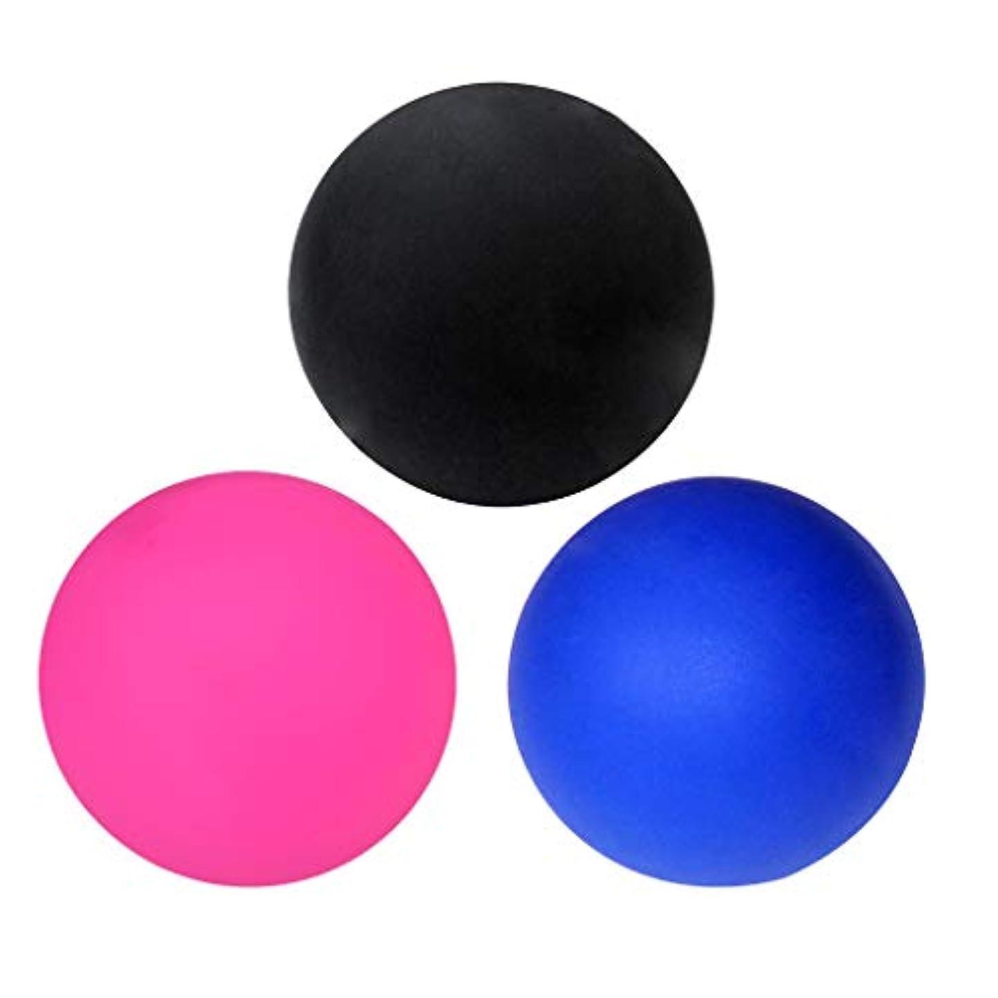 多数の有効なリズミカルなP Prettyia マッサージボール ラクロスボール トリガーポイント ヨガ エクササイズボール 健康グッズ 3個入