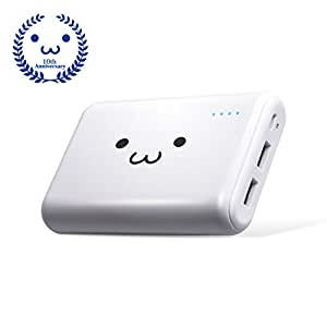 エレコム モバイルバッテリー 大容量 10050mAh USB×2ポート 最大3.6A出力 [iPhone&iPad&andorid 対応] ホワイトフェイス EC-M01WF