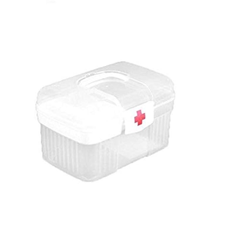 HTDZDX 医学組織の家庭用プラスチックホワイトのための家庭用応急処置ケースキット収納ボックス