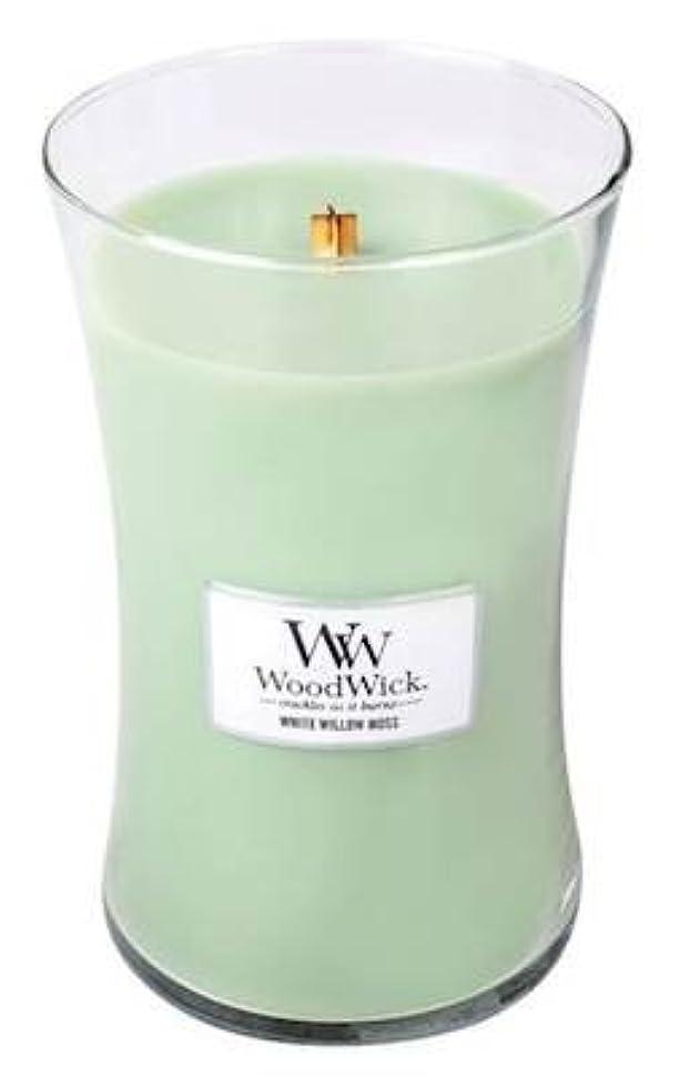 講師ゆるく犠牲WHITE WILLOW MOSS WoodWick 650ml Large Hourglass Jar Candle Burns 180 Hours