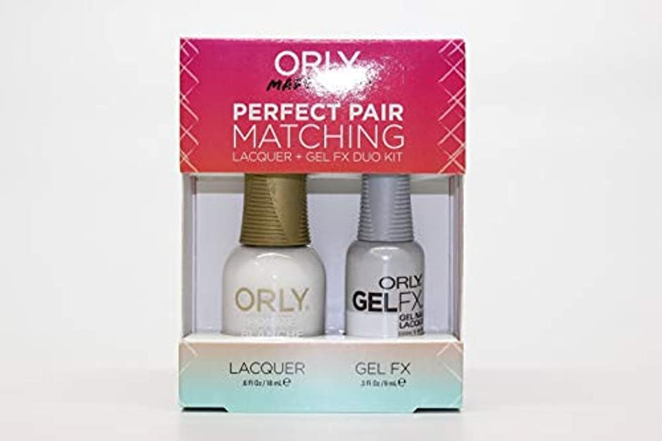 気配りのある許す憂慮すべきOrly - Perfect Pair Matching Lacquer+Gel FX Kit - Pointe Blanche - 0.6 oz / 0.3 oz