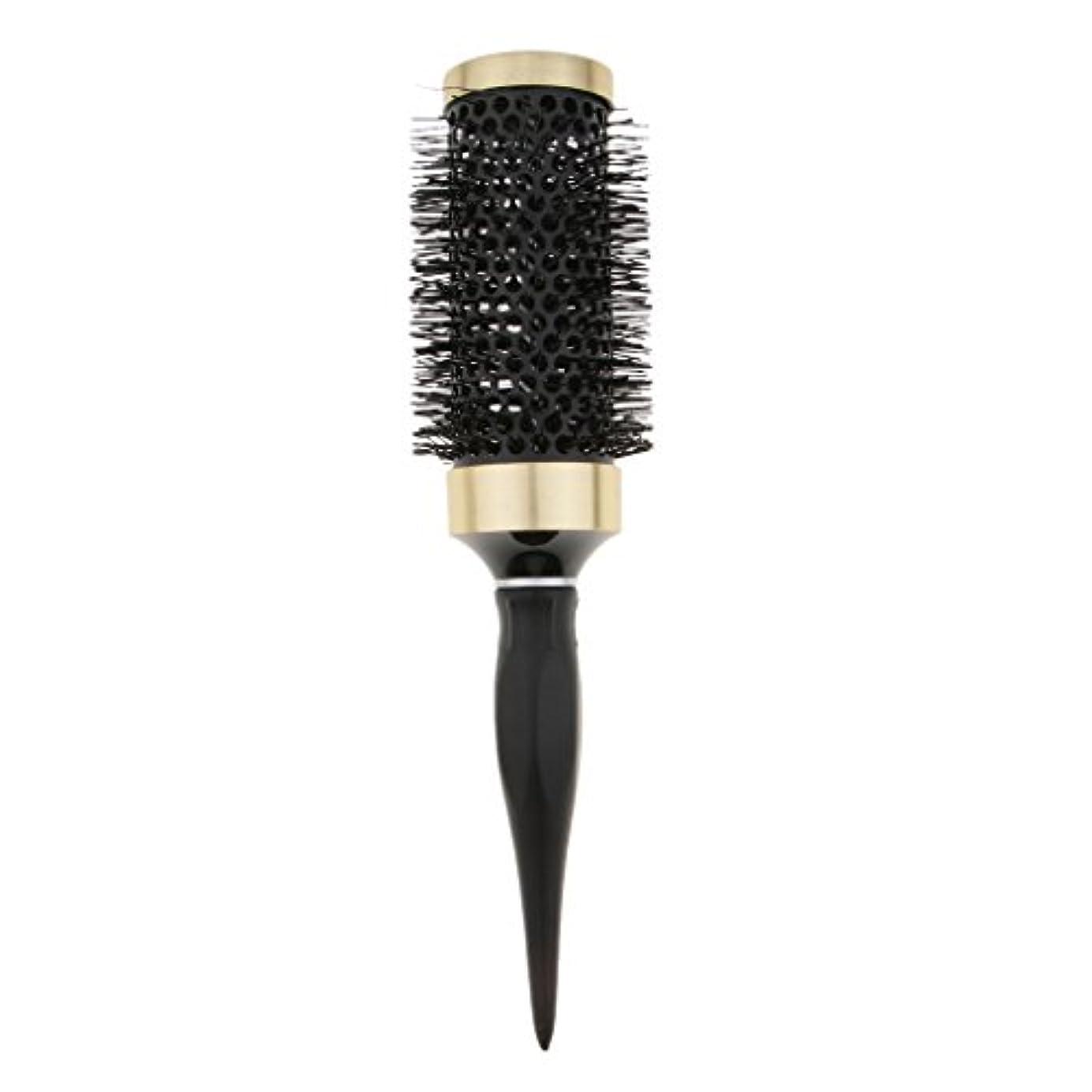 確立しますちょっと待って旋律的ロールブラシ ヘアブラシ ヘアコーム ナイロンブラシ ヘアカラーリング 静電気防止 カール 巻き髪 全5サイズ - 45mm
