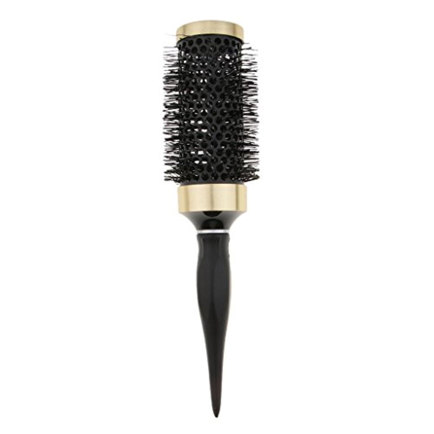 割り込み助けになる湿気の多いヘアブラシ 櫛 ロールブラシ ブロー カール 巻き髪 耐熱仕様 全5サイズ - 45mm