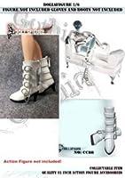 女性用 白レザーバックルブーツ Artcreator_BM CC88 1/6 DOLLSFIGURE white Patent Leather Buckle Boots