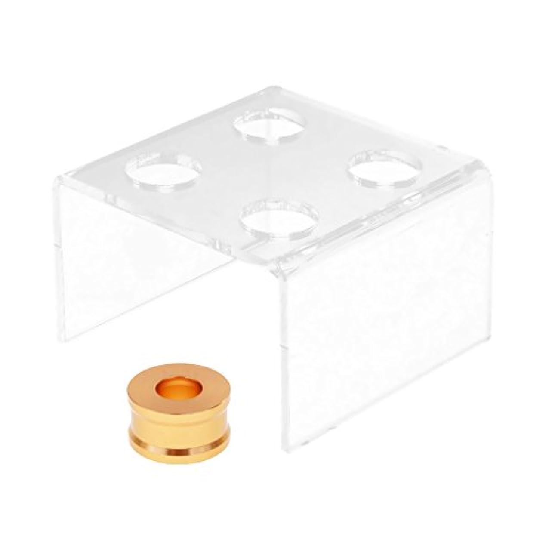 分布に渡って修正Toygogo リップスティック 金型 スタンド ホルダー 4穴 DIY リップクリーム 手芸ツール アクリル製