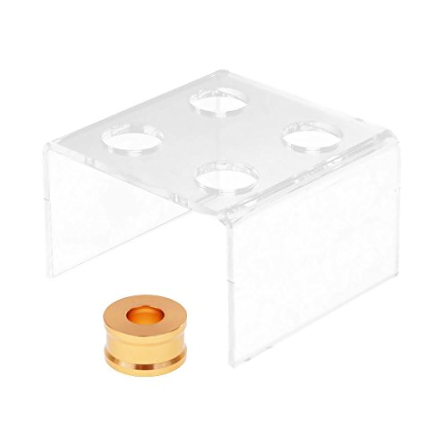 午後経験協同predolo リップクリーム リップスティック 金型 スタンド 4穴 DIY 12.1mmの口紅チューブに適用