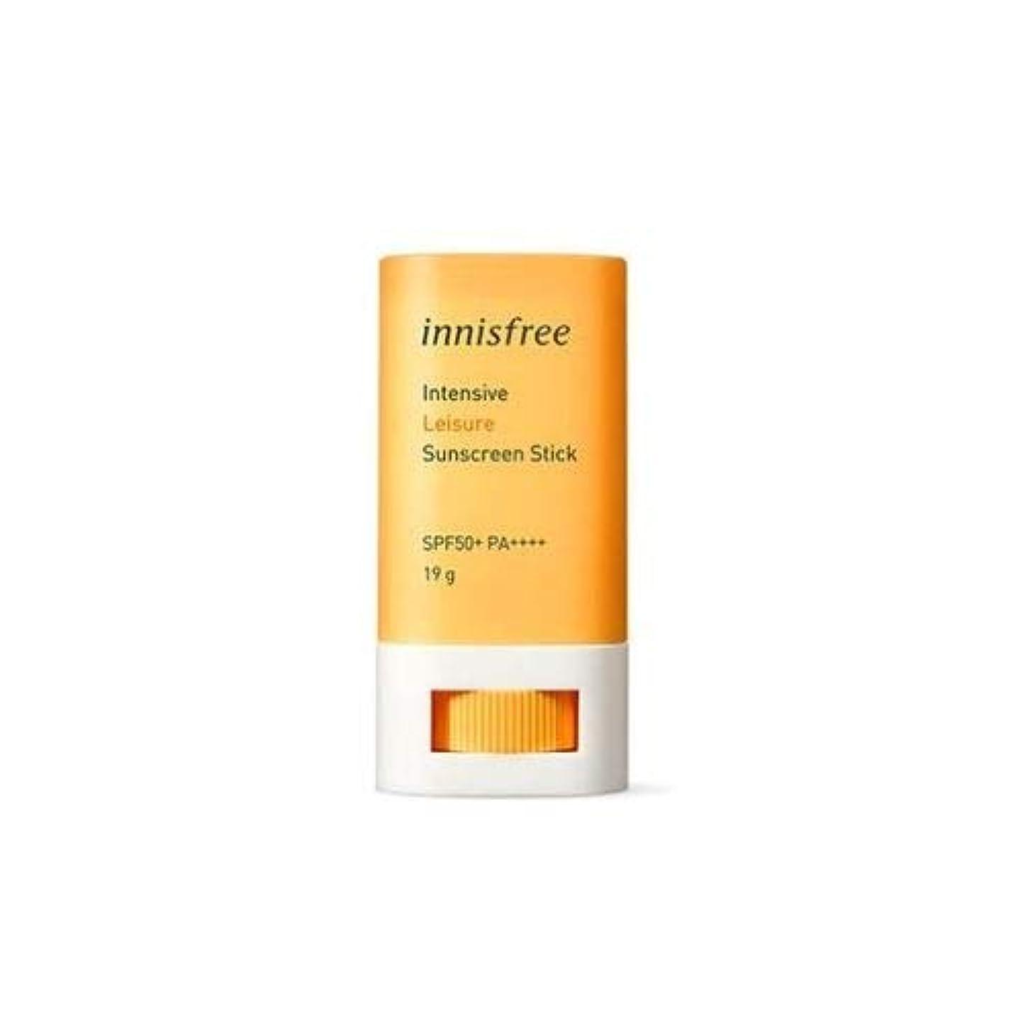 広がり粘液興奮イ二スフリー インテンシブ レジャー サンスクリーン スティック SPF50+ PA++++ / Innisfree Intensive Leisure Suncreen Stick 19g [並行輸入品]