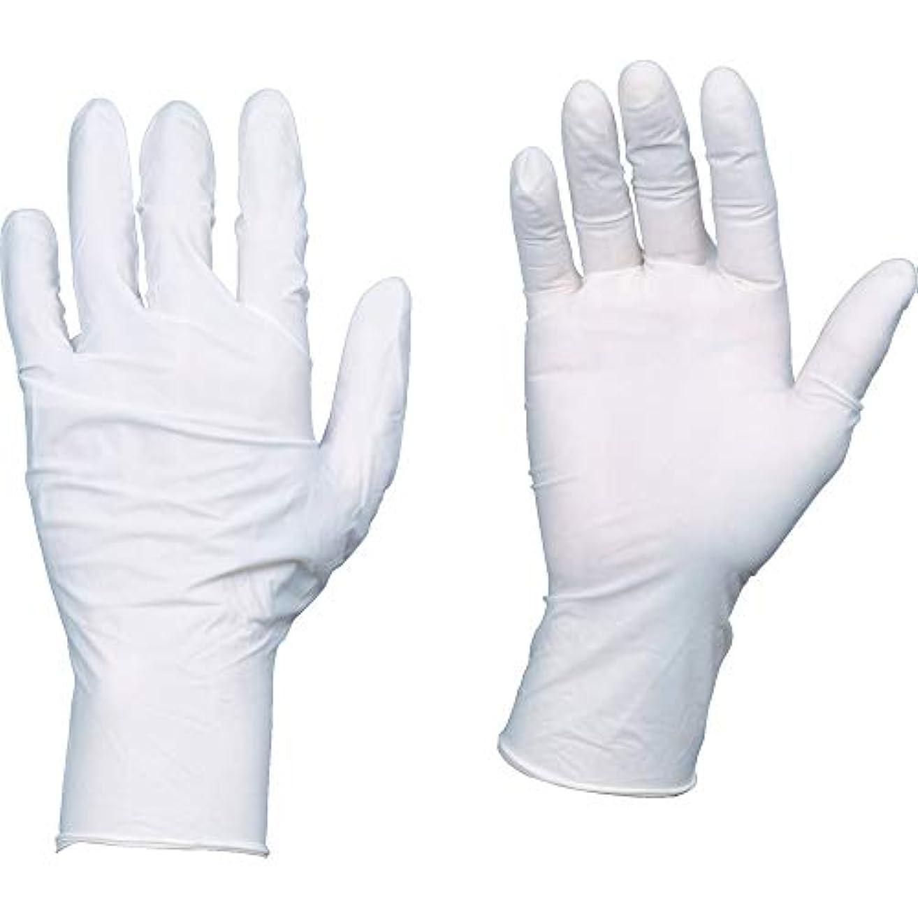 ポップ狼減らすTRUSCO(トラスコ) 10箱入り 使い捨て天然ゴム手袋TGワーク 0.10 粉付白L TGPL10WL10C
