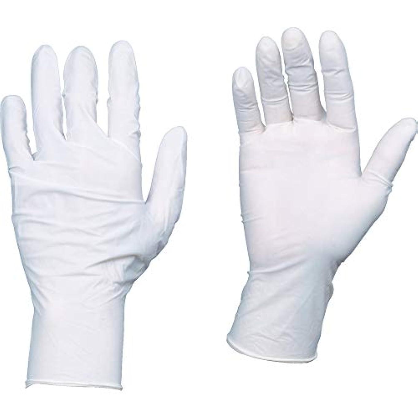 主聖なる曲がったTRUSCO(トラスコ) 10箱入り 使い捨て天然ゴム手袋TGワーク 0.10 粉付白M TGPL10WM10C