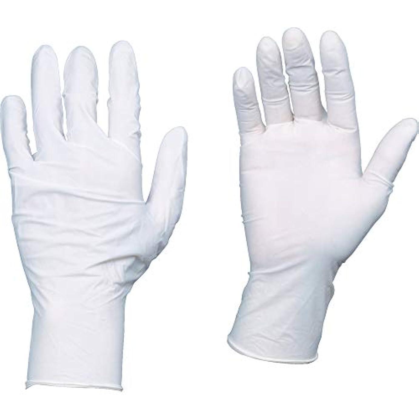 TRUSCO(トラスコ) 10箱入り 使い捨て天然ゴム手袋TGワーク 0.10 粉付白M TGPL10WM10C