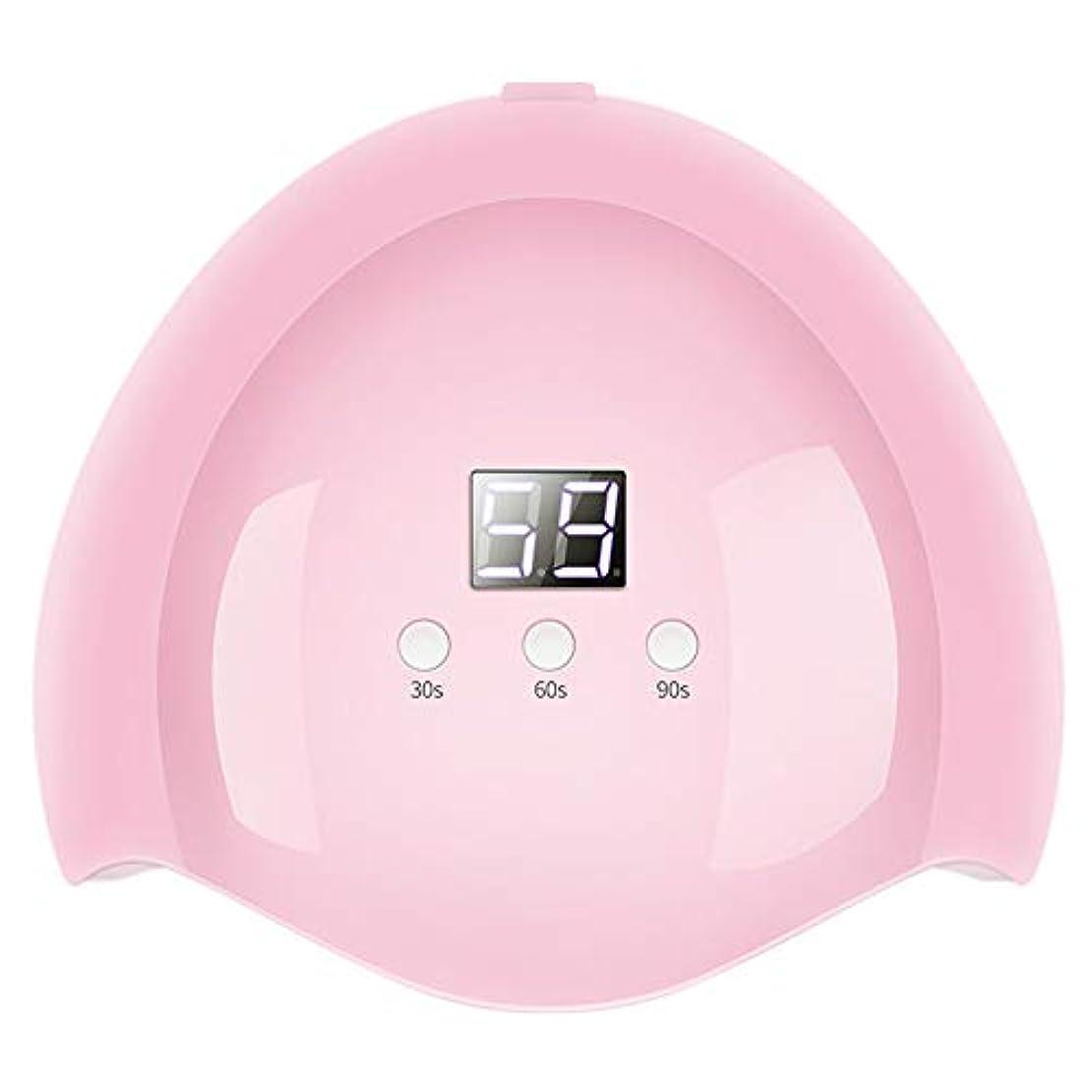 エレベーター地獄側面グレファイディンドライヤーネイルマシン36W UV LEDネイルアートランプ赤外線センシング光線療法ゲルポリッシュ硬化光 - ピンク