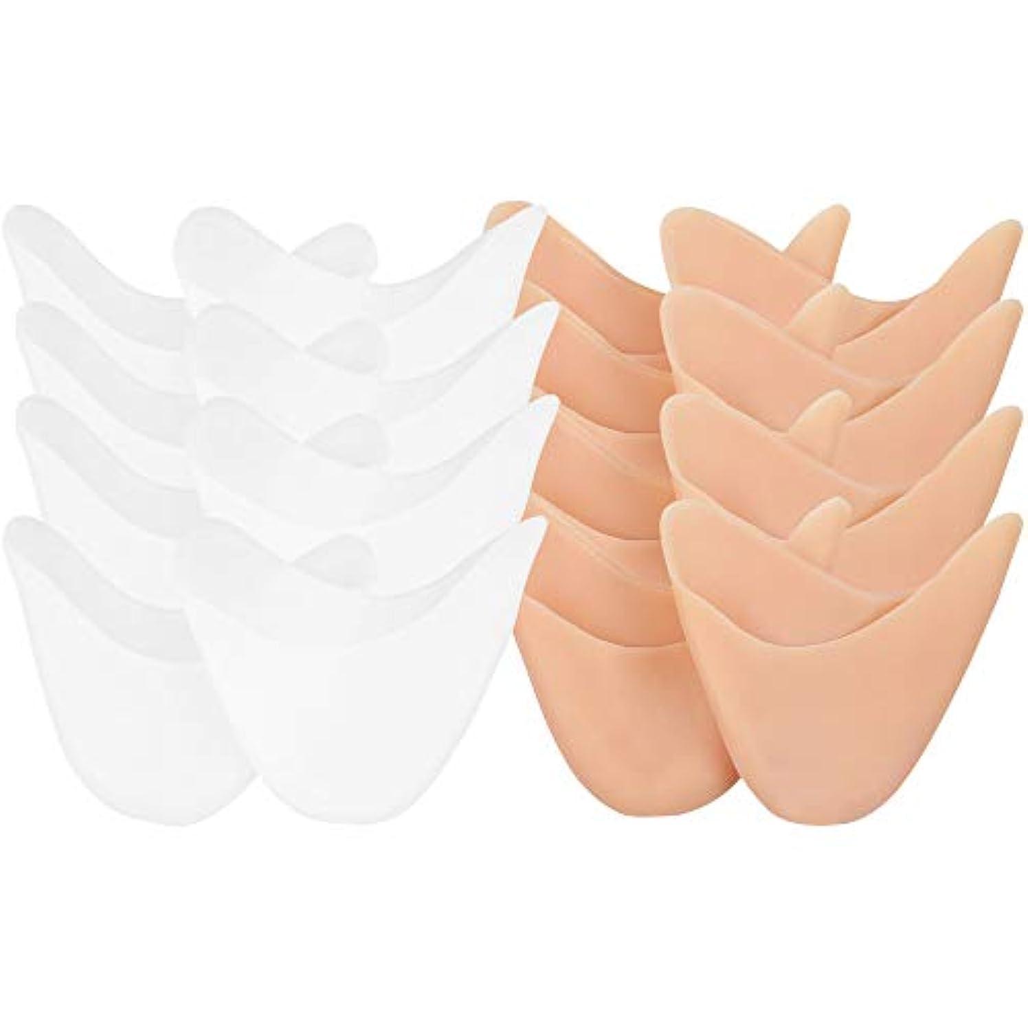 騒々しい中傷効果KINDOYO インソール - ダンスプロテクトトゥキャップ 尖ったバレエシューズ用 足の痛みの軽減,4*肌のトーン+4*ホワイト,9.2*11*6.8cm