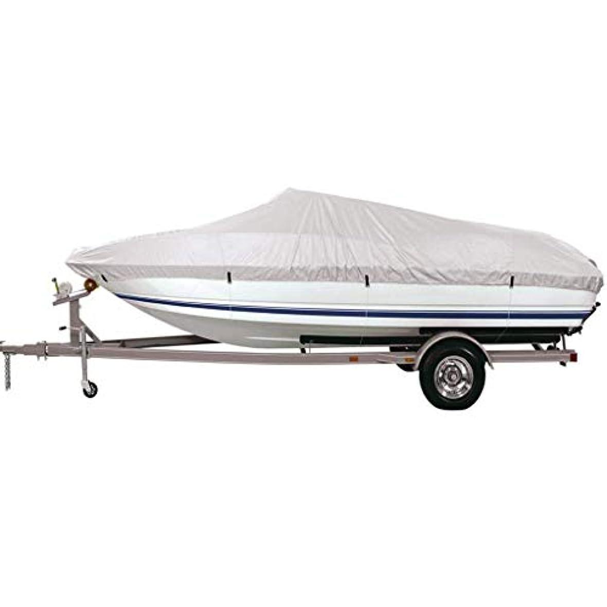 レパートリーなしで永続Semoic ボートカバー 釣りトレーラー グレー 防水 スキー - 14フィート?16フィート