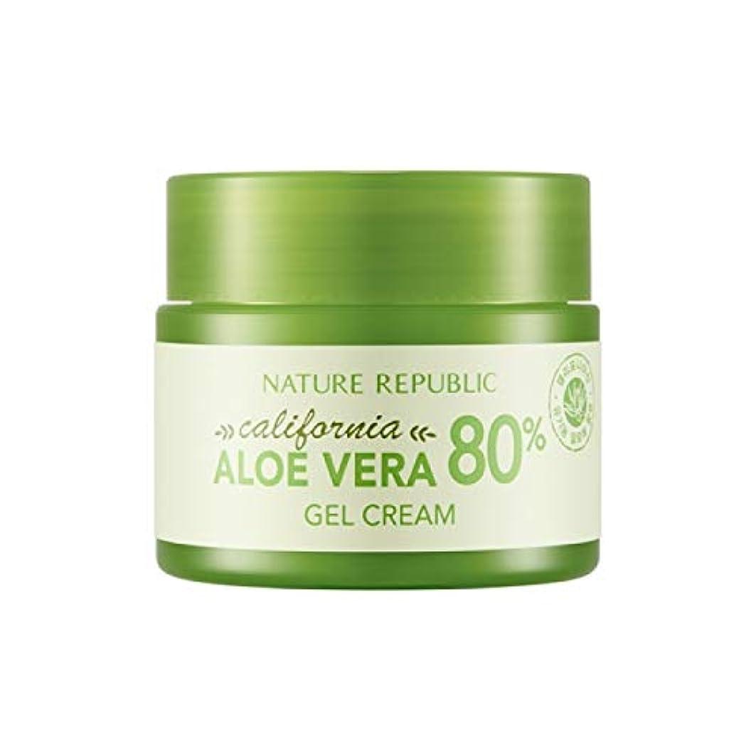 着陸実質的にシダネイチャーリパブリック(Nature Republic)カリフォルニアアロエベラ80%ジェルクリーム 50ml / California Aloe Vera 80% Gel Cream 50ml :: 韓国コスメ [並行輸入品]