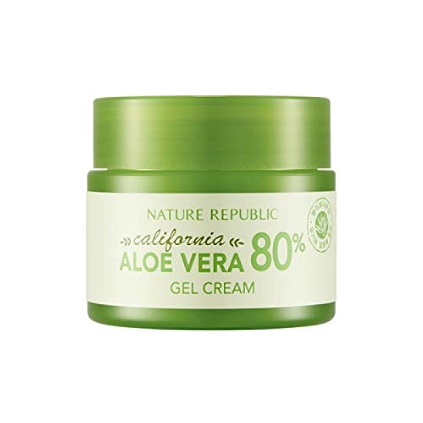 パッド模索レジネイチャーリパブリック(Nature Republic)カリフォルニアアロエベラ80%ジェルクリーム 50ml / California Aloe Vera 80% Gel Cream 50ml :: 韓国コスメ [並行輸入品]
