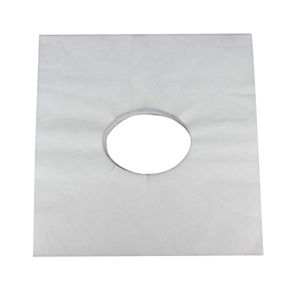 受信機道に迷いました甲虫マッサージのための使い捨て可能な美容院のベッドの表面穴カバー不織布マッサージテーブル枕カバー、100個(白)
