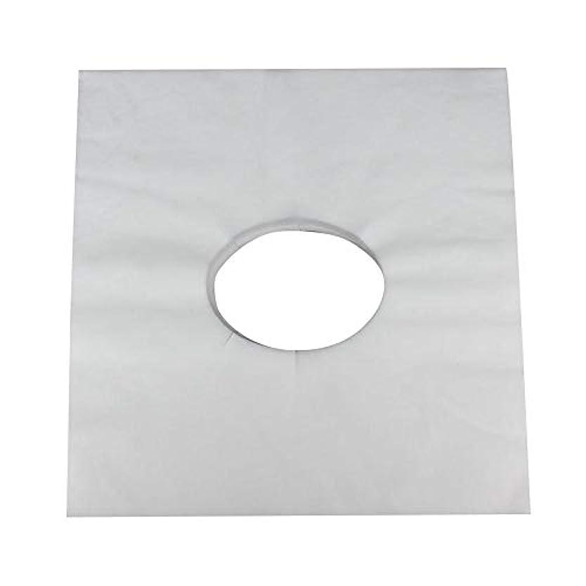 すずめ市の中心部ハンサムマッサージのための使い捨て可能な美容院のベッドの表面穴カバー不織布マッサージテーブル枕カバー、100個(白)