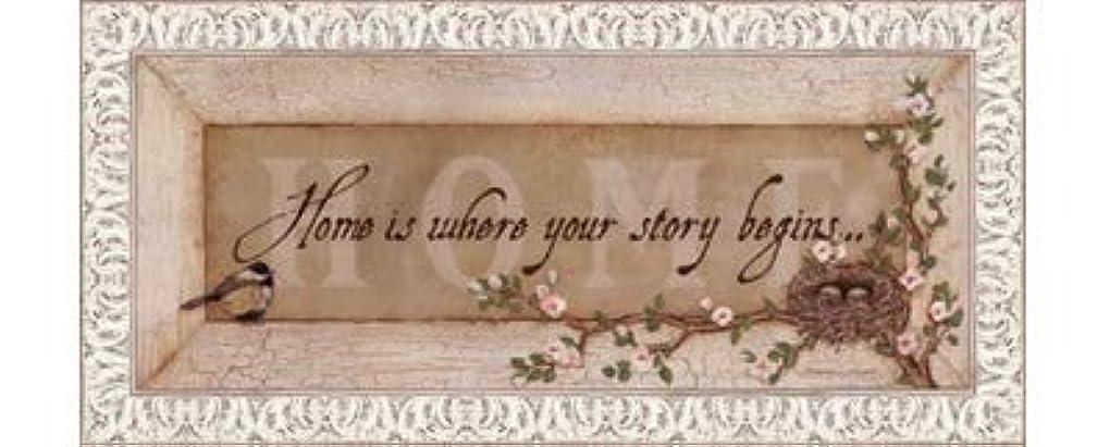 放射性知らせる意欲Home Is Where Your Story Begins by Stephanie Marrott – 20 x 8インチ – アートプリントポスター LE_211814-F9711-20x8