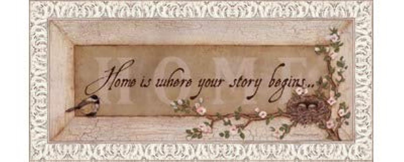 音声に慣れ固執Home Is Where Your Story Begins by Stephanie Marrott – 20 x 8インチ – アートプリントポスター LE_211814-F9711-20x8