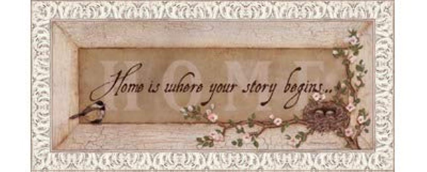句時間とともにヒットHome Is Where Your Story Begins by Stephanie Marrott – 20 x 8インチ – アートプリントポスター LE_211814-F9711-20x8