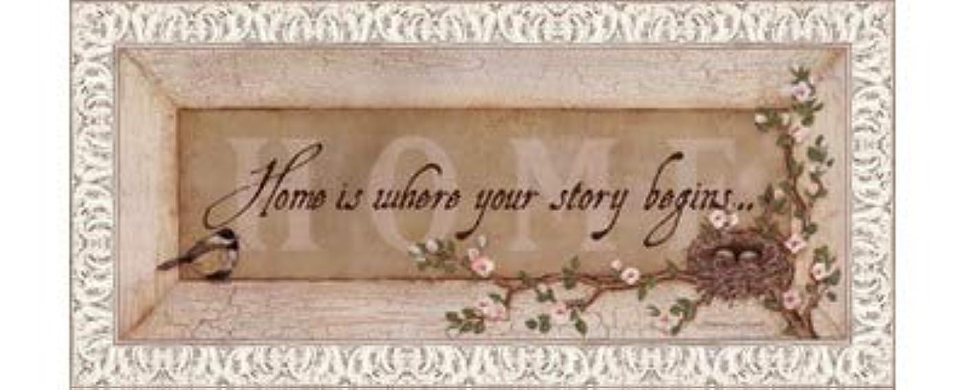 原子不定協定Home Is Where Your Story Begins by Stephanie Marrott – 20 x 8インチ – アートプリントポスター LE_211814-F9711-20x8