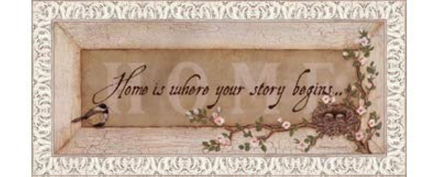 共役カップ掃除Home Is Where Your Story Begins by Stephanie Marrott – 20 x 8インチ – アートプリントポスター LE_211814-F9711-20x8