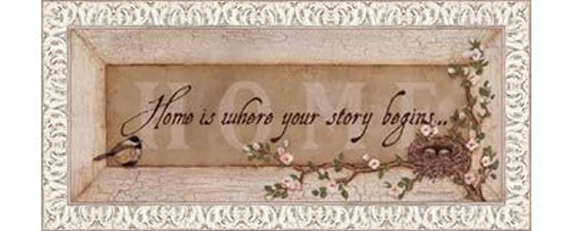 送るスペア間欠Home Is Where Your Story Begins by Stephanie Marrott – 20 x 8インチ – アートプリントポスター LE_211814-F9711-20x8