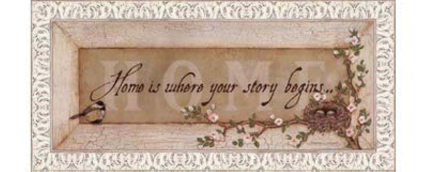 こねる魅惑的な着飾るHome Is Where Your Story Begins by Stephanie Marrott – 20 x 8インチ – アートプリントポスター LE_211814-F9711-20x8