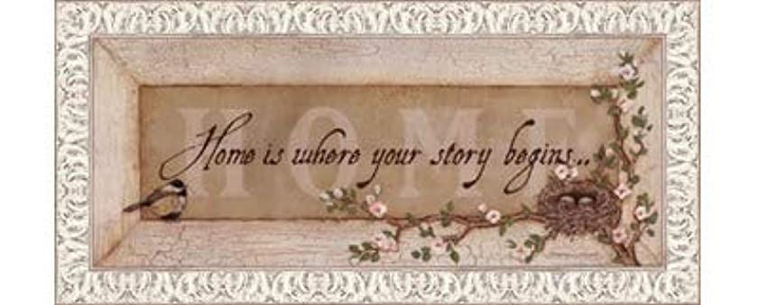 Home Is Where Your Story Begins by Stephanie Marrott – 20 x 8インチ – アートプリントポスター LE_211814-F9711-20x8