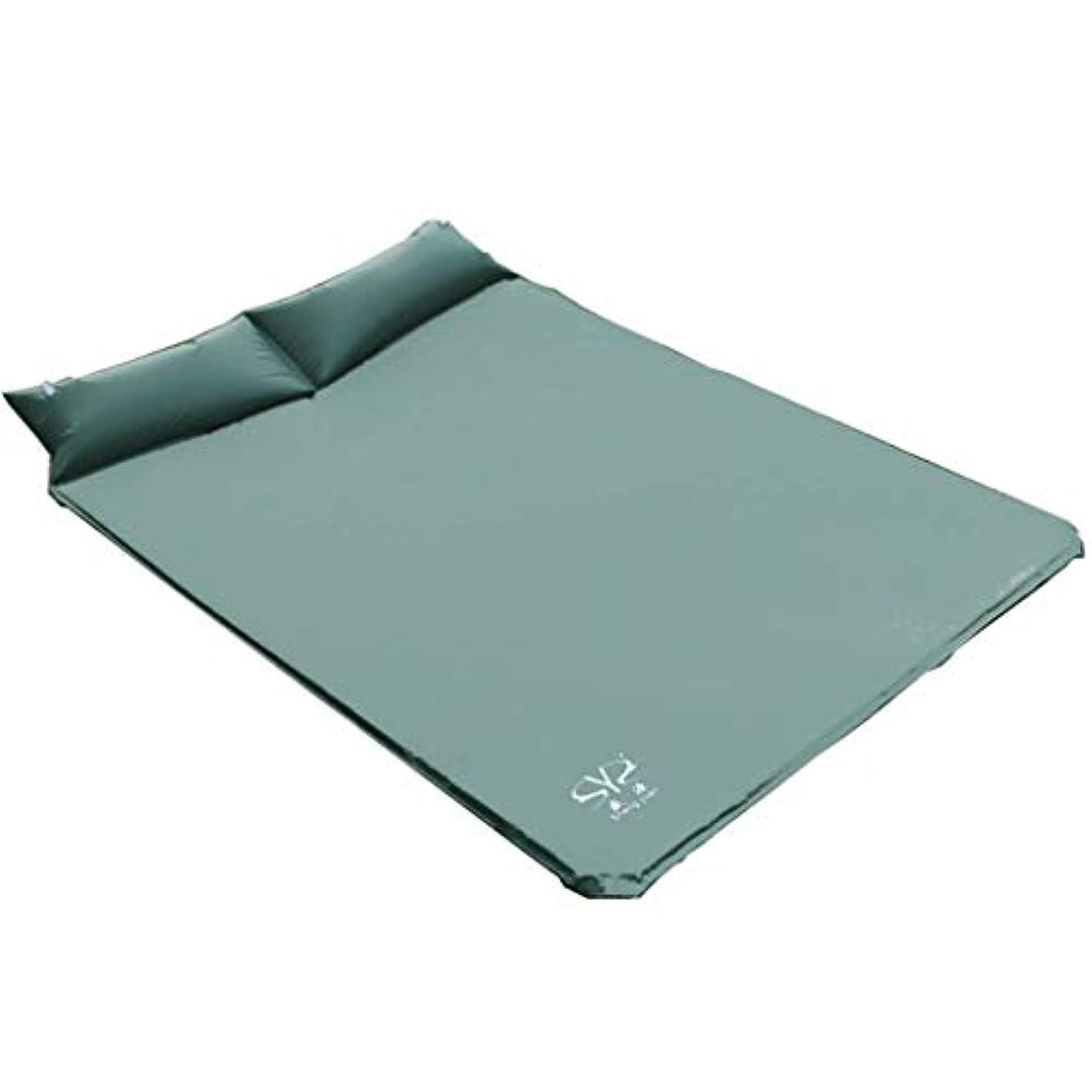 ヒューマニスティックホイッスル保存する屋外のテントの睡眠のマットの空気ベッドを厚くする継ぎ目がある自動膨脹可能なクッション