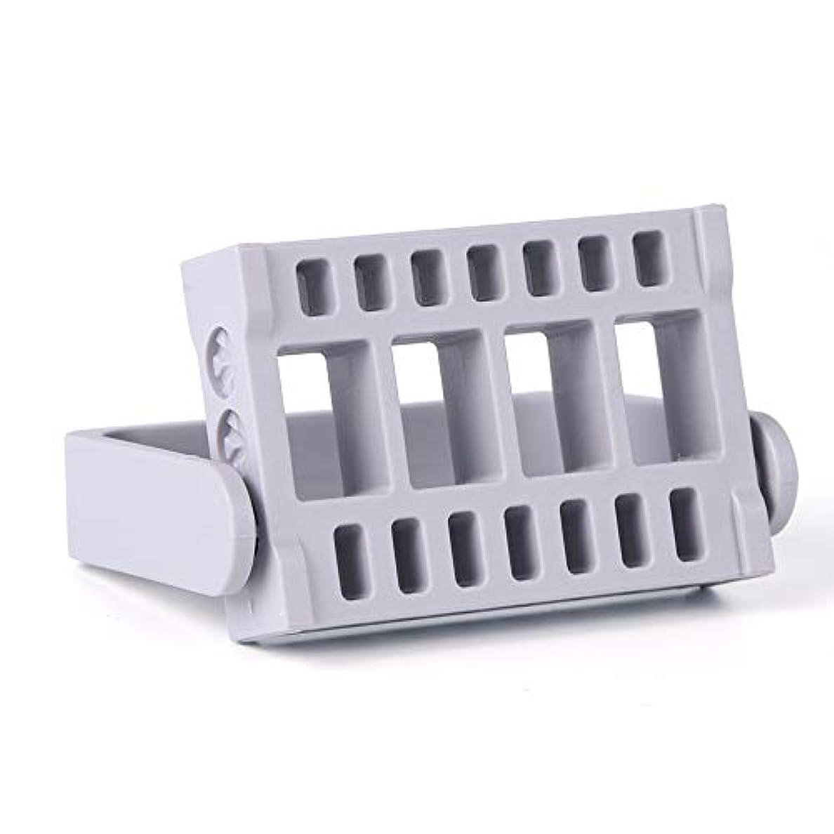 サミット最小意味のある1本16穴ネイルドリルビットホルダー展示スタンドディスプレイボックス電気ネイルファイルコンテナマニキュアツール