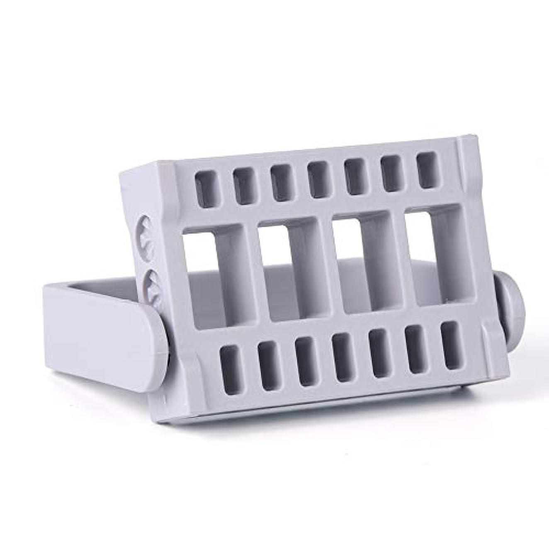 守る遅滞ハンサム1本16穴ネイルドリルビットホルダー展示スタンドディスプレイボックス電気ネイルファイルコンテナマニキュアツール