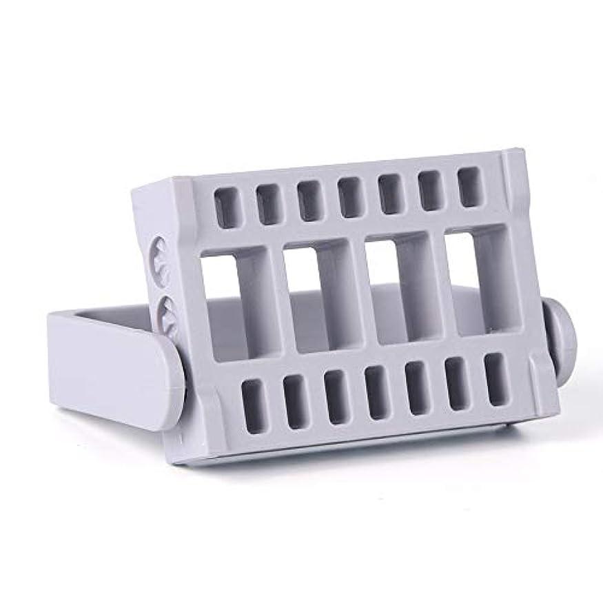 シャッフル遅らせるスクレーパー1本16穴ネイルドリルビットホルダー展示スタンドディスプレイボックス電気ネイルファイルコンテナマニキュアツール