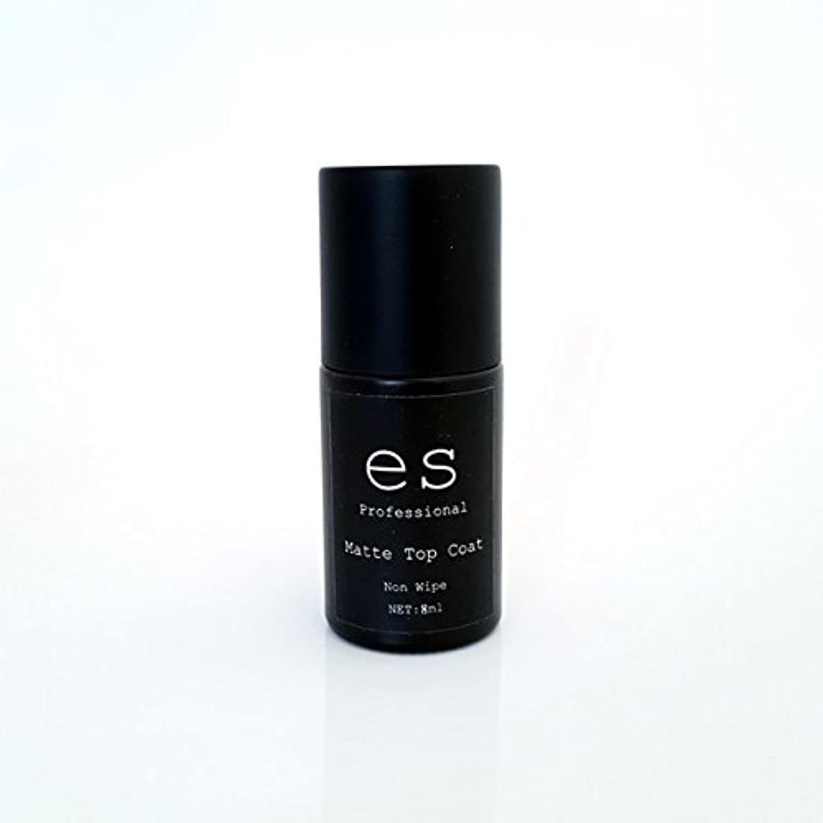 【モードデラカーサ】マットトップコート ES-Matte-Top ノンワイプ 8ml UV/LED対応 ソークオフ (8ml, マットトップコート)