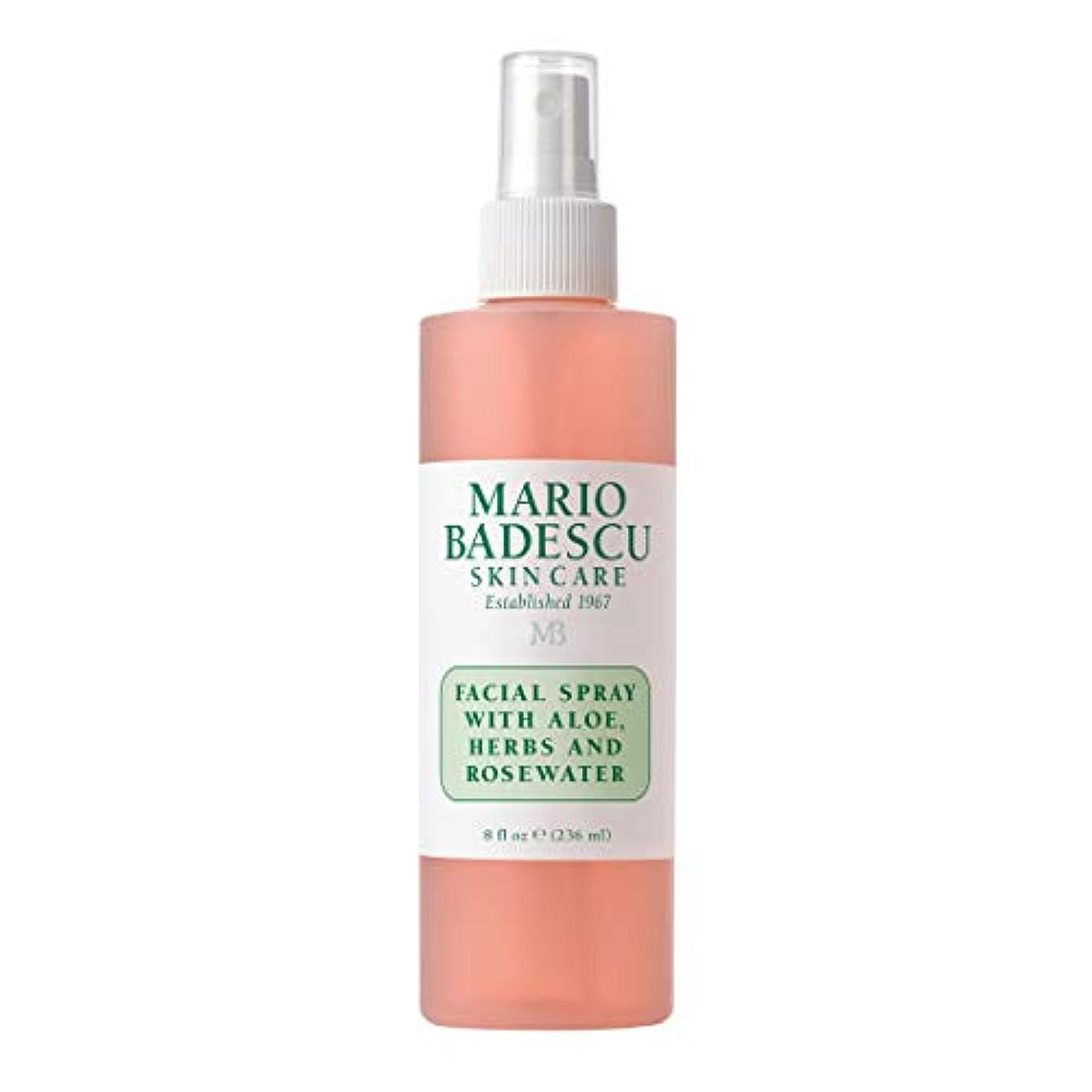 二十歯赤面マリオ バデスク Facial Spray with Aloe, Herbs & Rosewater - For All Skin Types 236ml/8oz並行輸入品